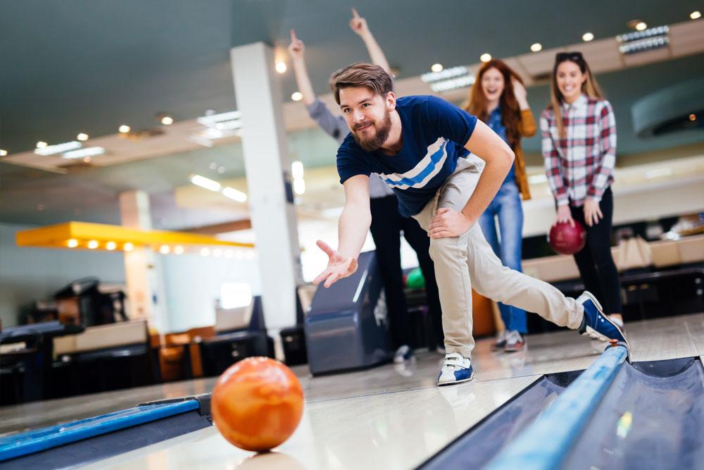 Guests Having Fun Bowling