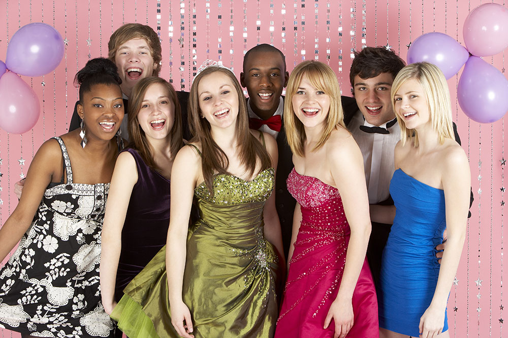 Smiling Guests At Prom Night